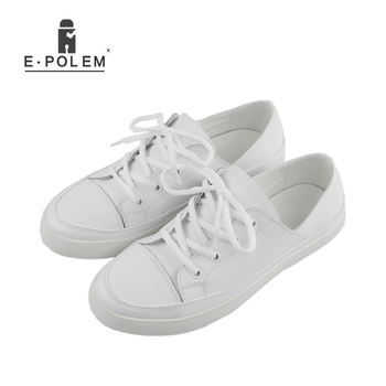 Men New Spring Summer Fashion Shoes Lace-up Low Breathable Male Flats Casual Shoes Students loafers White Khaki Shoe Hot Sale