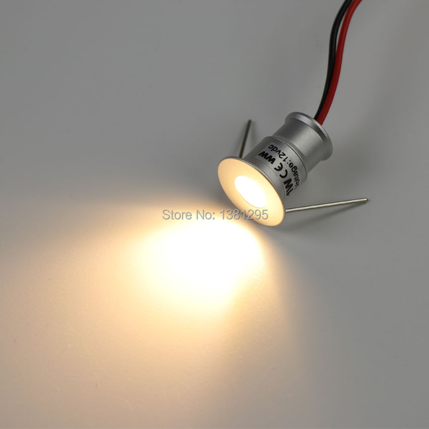 Us 252 05 29 Off Led Downlight 12v 1w Round Mini Spots Lamp Recessed Spot Lighting For Home Kitchen Bathroom Ceiling Cabinet Dimmable 20mm In