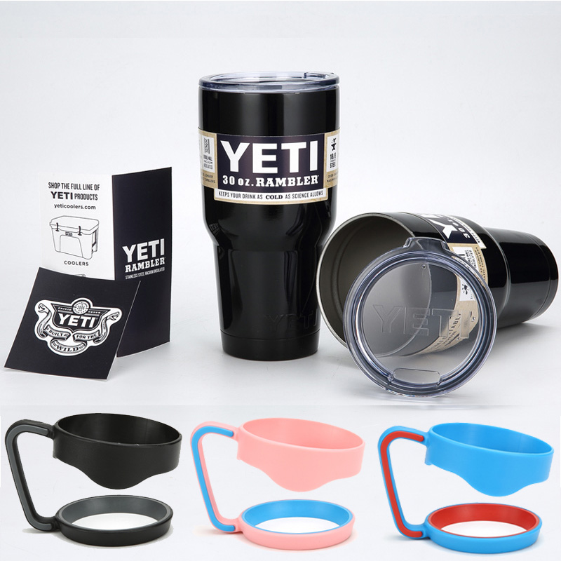 <font><b>Yeti</b></font> Cooler With Lids and Handle 30oz NEW <font><b>2016</b></font> Bilayer 304 <font><b>Stainless</b></font> <font><b>Steel</b></font> <font><b>Yeti</b></font> <font><b>Rambler</b></font> Tumbler <font><b>Cup</b></font> Travel Mug Large Capacity