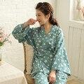 2016 inverno sexy lady verde bath robe vestido de seda rayon kimono yukata vestido flor roupa de dormir