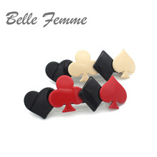 French Elegance Hair Accessories Creative Playing Cards Acetate Sheets  Clips For Women Hairpins Rim Handmade Bows