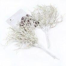 6 шт. рождественские искусственные Белые сосновые цветы для свадьбы рождественские украшения для самодельного изготовления венок подарок Скрапбукинг поддельное растение