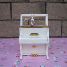 2017 Music box hand Ballerina Girl Dance Girl Music Box Piano Jewelry Box Craf Music box for girls Present Gift