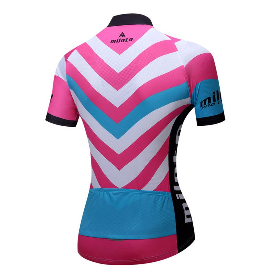 MILOTO 2017 Pro Team Women s Cycling Jersey Short Sleeve Bike Wear  Breathable Bike Outdoor T shirt Clothes-in Cycling Jerseys from Sports    Entertainment on ... c1b8ff805