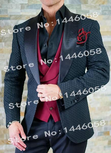 Mens Tuxedo New Design 2018 Slim Fit Formal 3 Pieces Men Suits Black Gentleman Groom Dress Wedding Suits For Men