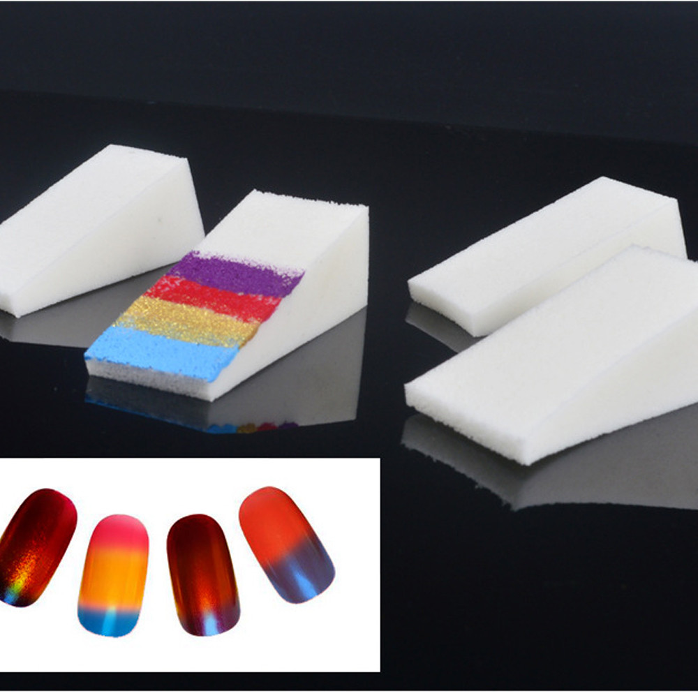 Image 3 - 1PC Soft Triangle Nail Art Transfer Sponge Gradient Coloring Stamping Stamper Painting Image Stamp Foam DIY Polish Gel UV Tool 6-in Nail Art Templates from Beauty & Health