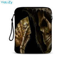 grim Reaper print tablet case 9.7 10.1 inch notebook sleeve protective pouch Ultrabook Cover laptop bag for lenovo 10 IP-23497 pu leather case cover for lenovo ideapad 510s 14 inch laptop bag notebook protective sleeve detachable cover pen as gift