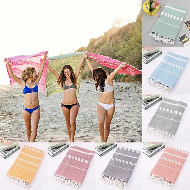2018 New Turkish Hammam Peshtemal Pestemal 100% Cotton Bath Towel Gift Spa Gym Yoga Beach 100X180cm