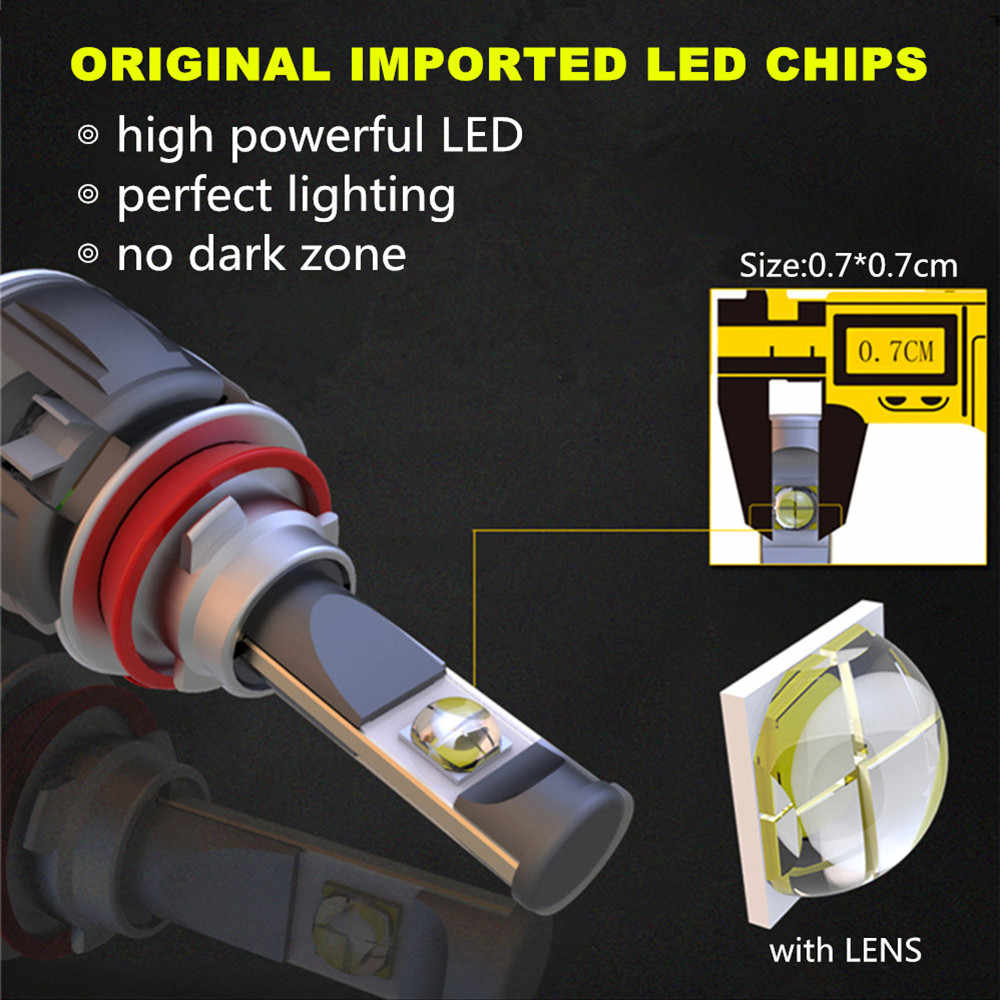 INLONG X70 H7 Car LED Headlight Bulbs H11 D1S D2S D4S Led Lamp H4 Led Light H1 9005 9006 7800LM  Auto  Headlamp Fog Lights 6000K