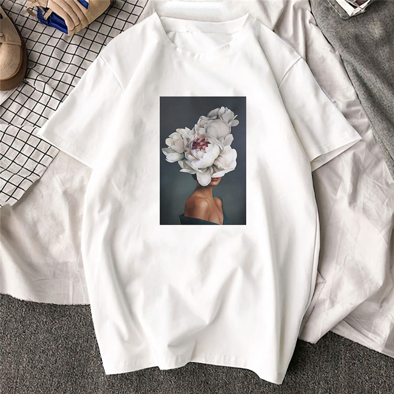 Large Size Women Hoodies Print Flowers Feather Harajuku Aesthetics Sweatshirt Women Pullovers Kpop Korean Casual Female Tops