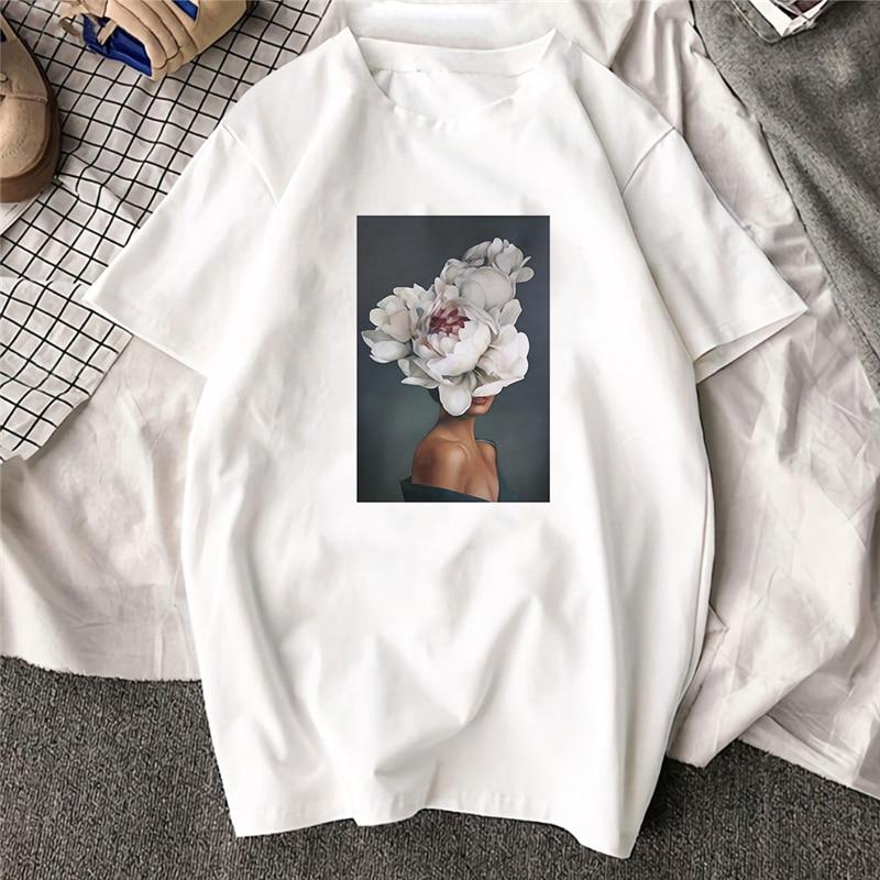 Large Size Women Hoodies Print Flowers Feather Harajuku Aesthetics Sweatshirt Women Pullovers Kpop Korean Casual Female Tops