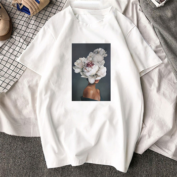 Фото #1: Large Size Women Hoodies Print Flowers Feather Harajuku Aesthetics Sweatshirt Women Pullovers Kpop K