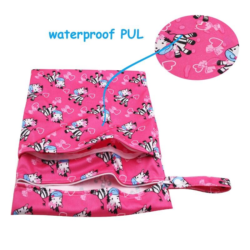 molhada bolsa duplo com zíper Used For : Cloteh Diaper, Bamboo Wipe, Sanitary Pads