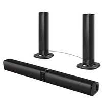 Sound Bar, Bluetooth Separable Wired and Wireless Sound System for TV, PC, Tablet, Smart Phone, Home Theater 20W TV Speaker
