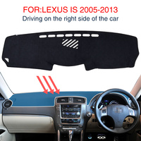 for Lexus IS XE20 2006 2013 Anti Slip Mat Dashboard Protective Shade Board 250 300 350 IS250 IS300 IS350 Accessories 2008 2010