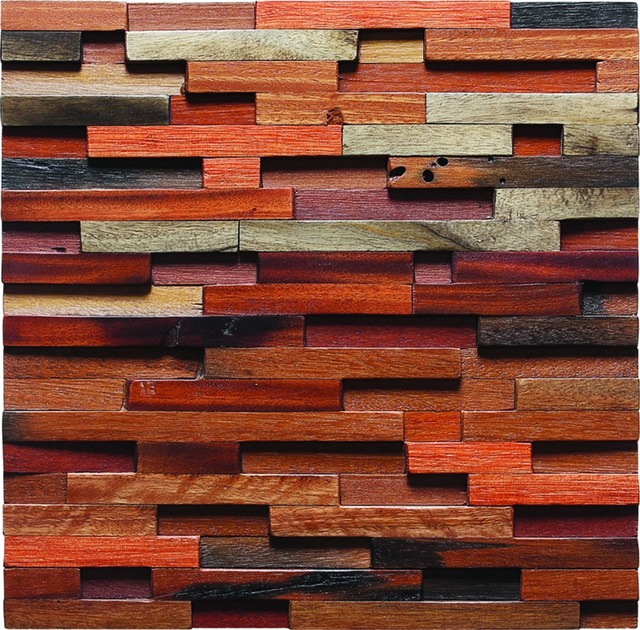 Tstwooden tiles design wooden style wall designed aesthetic red ...