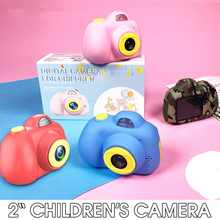 2'' HD Digital Micro Kids Camera D6 Mini Children's Camera Dual lens 800W TF Card Face Recognition Photo Video Toy Camera(China)
