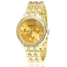2018 Hot New Women Watch Women Geneva Watches Stainless Steel Quartz Watch Ladies Crystal Casual Analog Watches Relogio Feminino