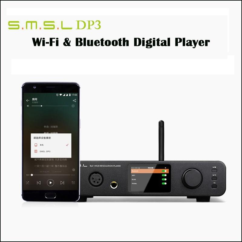 SMSL DP3 Home DSD DAC Amplifier Audio ES9018Q2C DAC USB Amp Hifi Digital Player Coaxial Amplifier Bluetooth with Headphone Amp цена и фото