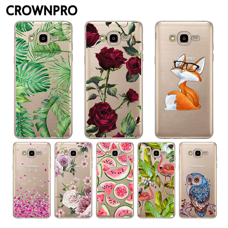 CROWNPRO Soft Silicone FOR Coque Samsung Galaxy J5 2016 Case Cover J510 J5100 TPU Phone Back FOR Funda Samsung J5 2016 Case image