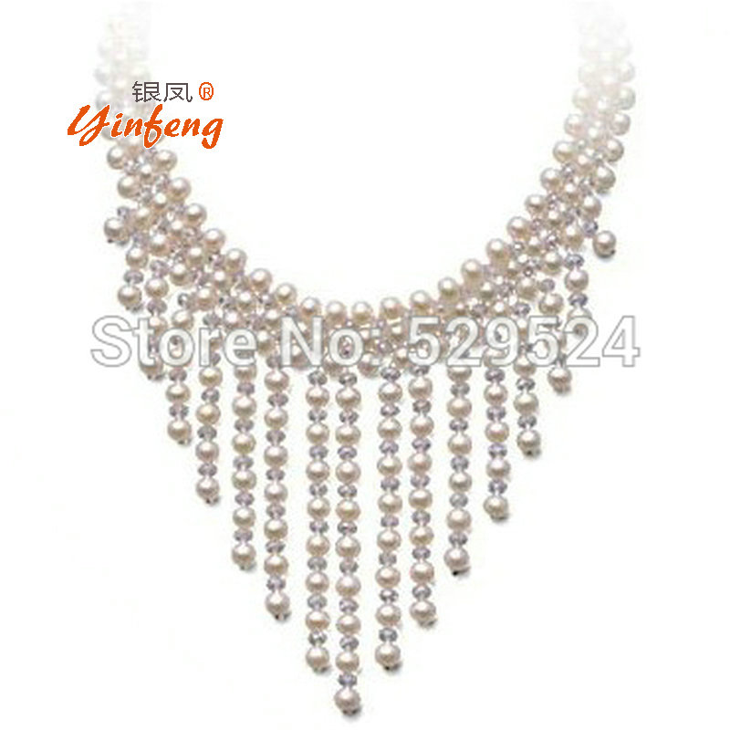 Multilayer Bridal Pearl Necklace Wedding necklace pearl jewelry fashion choker necklacs Bridal Jewelry Jewelry цена