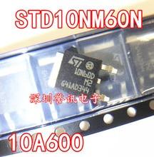 10 stks/partij 10N60 FQD10N60C STD10NM60N SMD TO 252
