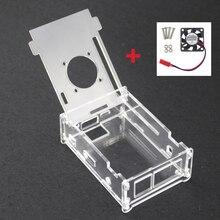 Высокое Качество Прозрачный Акриловый Пластиковая Прозрачная Коробка + Вентилятор Охлаждения Для Orange Pi PC/Orange Pi PC Plus