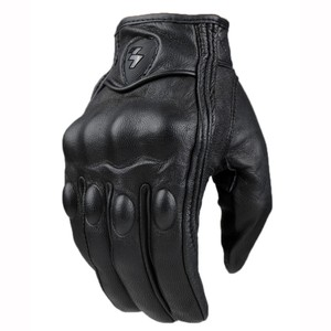 Image 1 - Guantes de motocicleta para hombre y mujer, guantes de cuero de carbono para Ciclismo de Invierno, motocross, ATV, motor