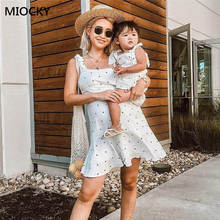 все цены на 2019 summer style mother daughter dresses family look clothing mom and daughter dress chiffon clothes mommy and me clothes E0151 онлайн