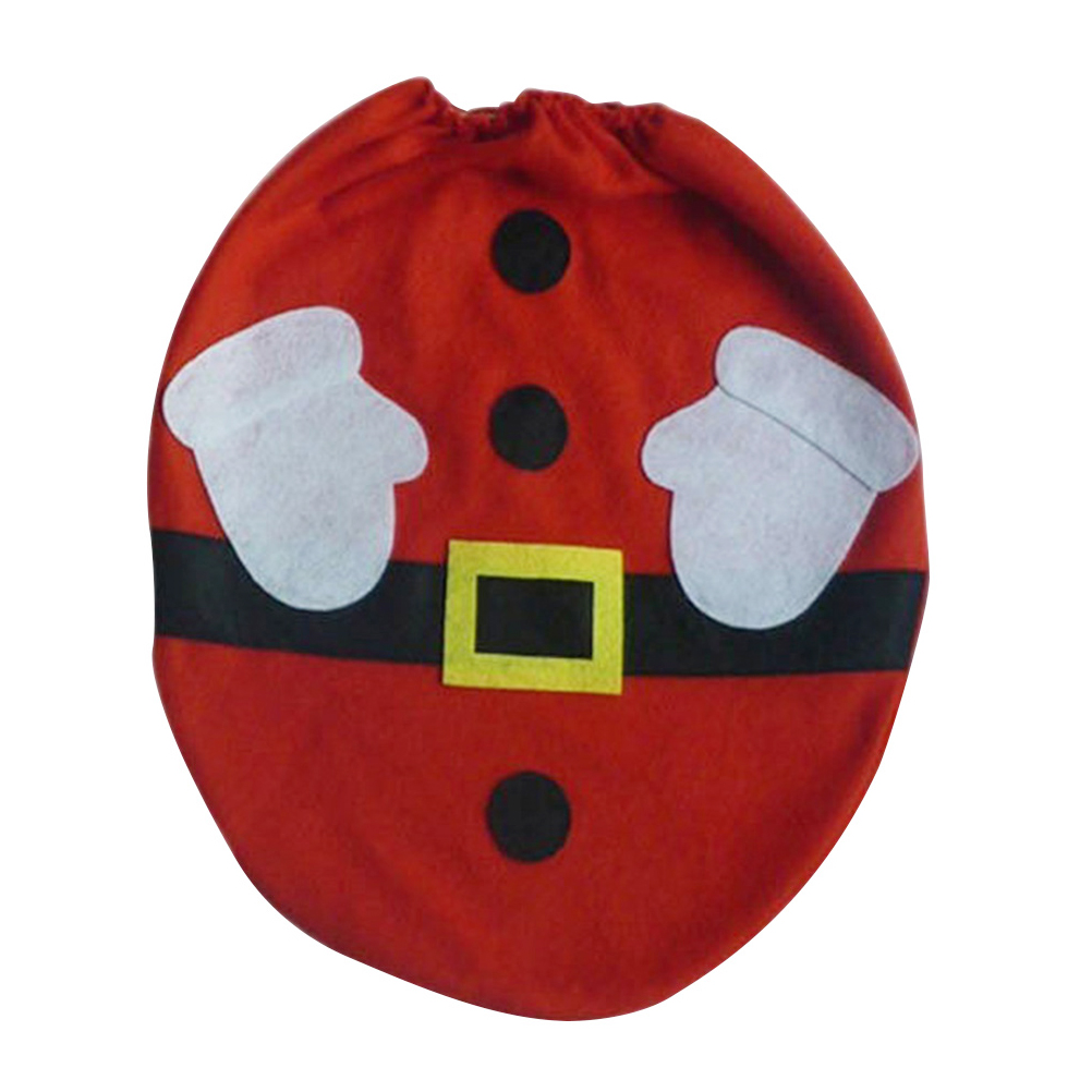 1pc Red Santa Claus Toilet Seat Cover for Bathroom Christmas Home Decorations Supplies