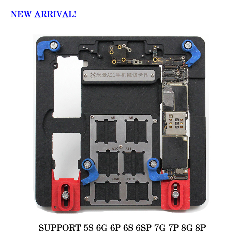 Circuit Board PCB Holder Jig Fixture Work Station for iPhone 5S 6G 6P 6S 6SP 7G 7P 8G 8P Logic Board A8 A9 A10 Chip Repair Tool цена и фото