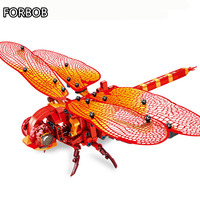 Animals Building Blocks Technic Toys for Toddlers Dragonfly 2019 New Plastic Building Bricks Technic for Children Party Supply
