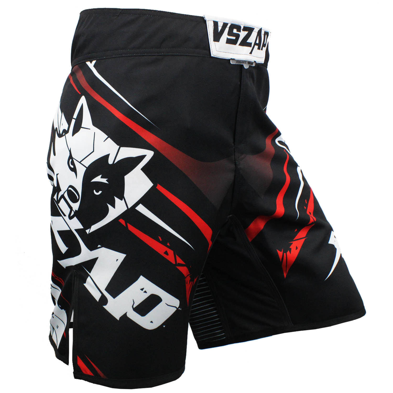 New Vszap MMA Shorts Blue Wolf Kick Boxing Figthing Men Pants Muay Thay Fight