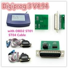 Envío de DHL Digiprog 3 V4.94 con OBD versión ST01 ST04 Cable Digiprog III Programador Del Odómetro V4.94 Digiprog 3 Kilometraje Correcto