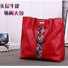 2017 Genuine Leather Women Handbag Shoulder Bag Fashion Cowhide Casual All-Match Picture Package Female Bag