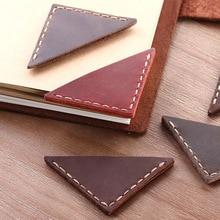 2 Pack Vintage bookmarks for books, Genuine Leather corner page marker, Handmade Handmade