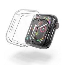 100個クリスタルクリアのpcフル保護シェルSeries4 apple腕時計シリーズ4カバー透明fundas coque 40ミリメートル44ミリメートル