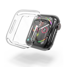 100pcs Crystal Clear PC Full Protection Shell Series4 Case for Apple Watch Series 4 Cover Transparent fundas coque 40mm 44mm