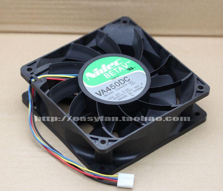 Nidec V34809-90 12cm 12038 12V 3.3A120 * 120 * 38mm Violent Server Industrial Cooling Fan original blower sunon dp200a 2123xbt gn 12cm 120 120 38mm 12038 220v socket case industrial cooling fan