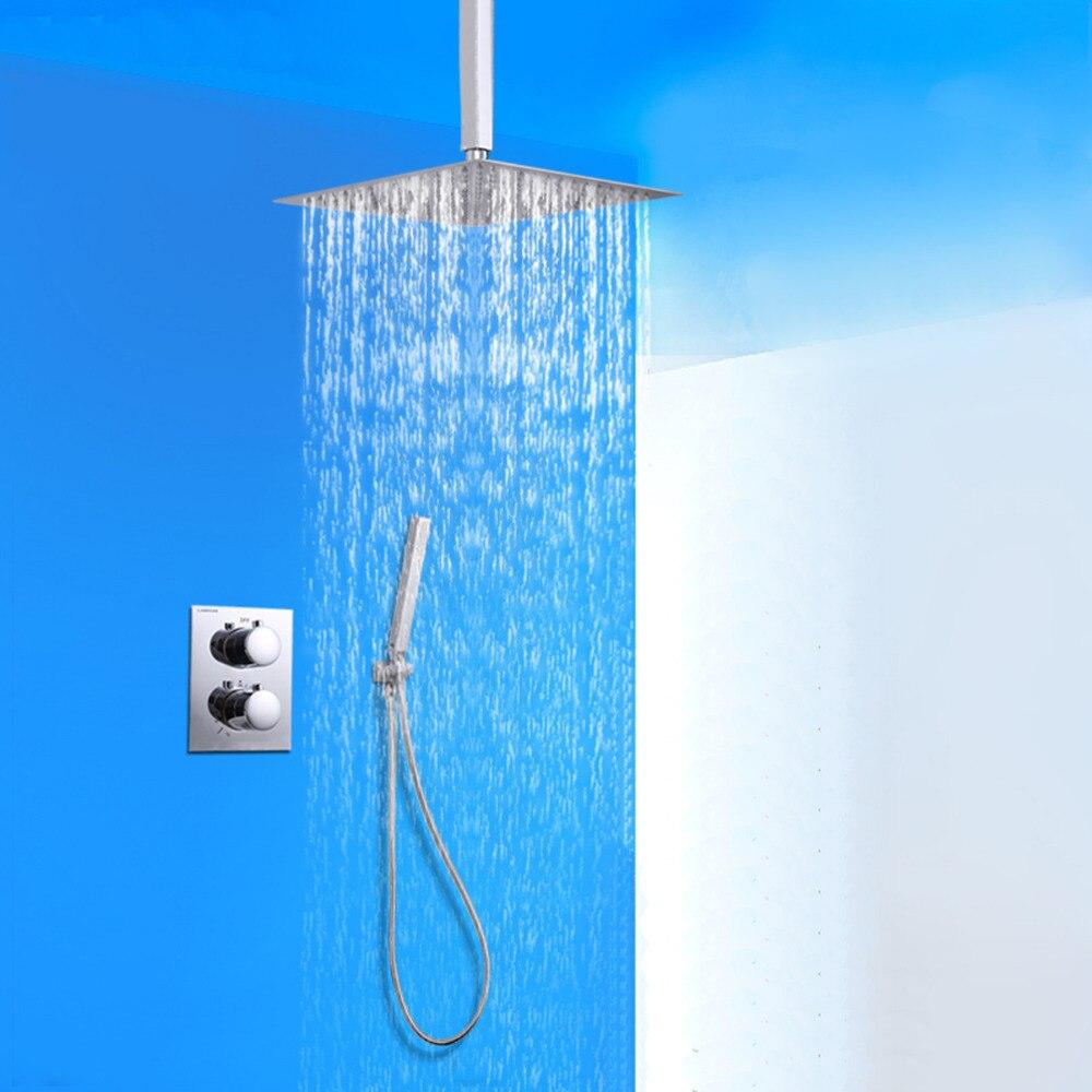 Doccia 8 Contermporary Роскошный домашний скрытый Термостатический душ водопад в стену ванная комната Смеситель кран Набор