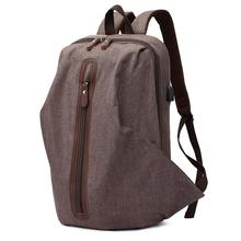 Casual Men's Business Casual Laptop Backpack Fashion Multi-function Computer Bag Zipper Vintage Solid Color Travel Office Bag цена и фото