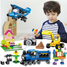 DIY Big Size Building Blocks Bricks City Creative With Educational Compatible With Legoings Duploe Toys For Children Gifts цены