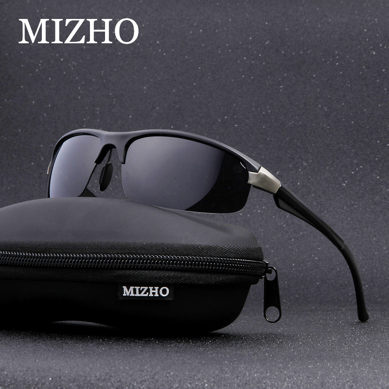 MIZHO Anti-glare UV400 Oculos De Sol Male Masculino Security Protect Eyesight Aluminum Polarized Sunglasses Fishing Men 2020