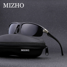 MIZHO Anti-glare UV400 Oculos De Sol Male Masculino Security Protect Eyesight Aluminum Polarized Sunglasses Fishing Men 2019