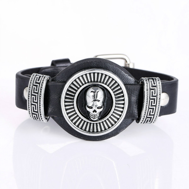Naruto Death Attack On Titan Leather Bracelet Finger Punk