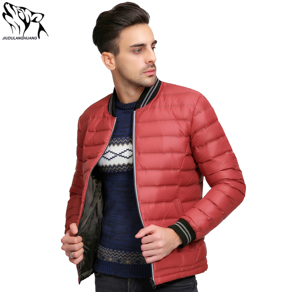 Parkas Winter Jas Mannen Double-sided Wear Mens Thin Ultra Light Down Jacket Baseball Models Duck Down Jacket Men Lightweight