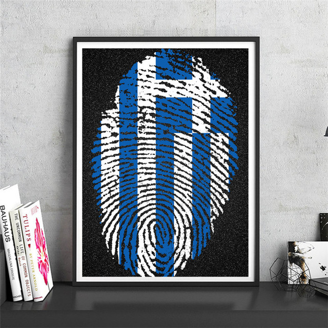 National poster greece krafts paper wall art crafts sticker print picture cafe design home living room