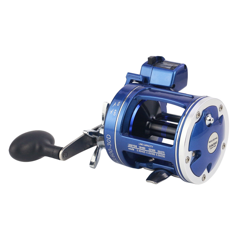 Metal Left/Right handle Casting Sea Fishing Reel Saltwater Baitcasting Reel  Coil 12 Ball Bearings Cast Drum Wheel