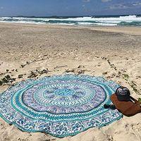Hot Sales 150cm Round Beach Towel Chiffon Printed Beach Round Bath Towels Summer Bohemia Circle Beach