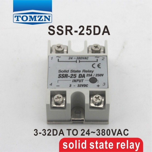 25DA SSR input 3 32V DC load 24 380V AC single phase AC solid state